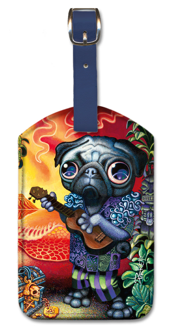 Tiki Dog Luggage Tag