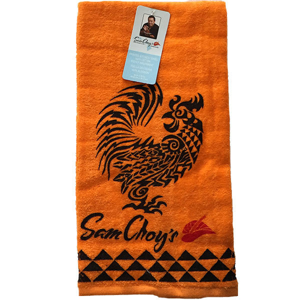 Luxury Kitchen Towel w Rooster Chef Sam Choy
