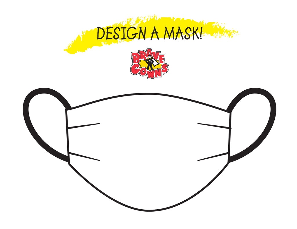 Printable Design A Mask Coloring Sheet! YAY!