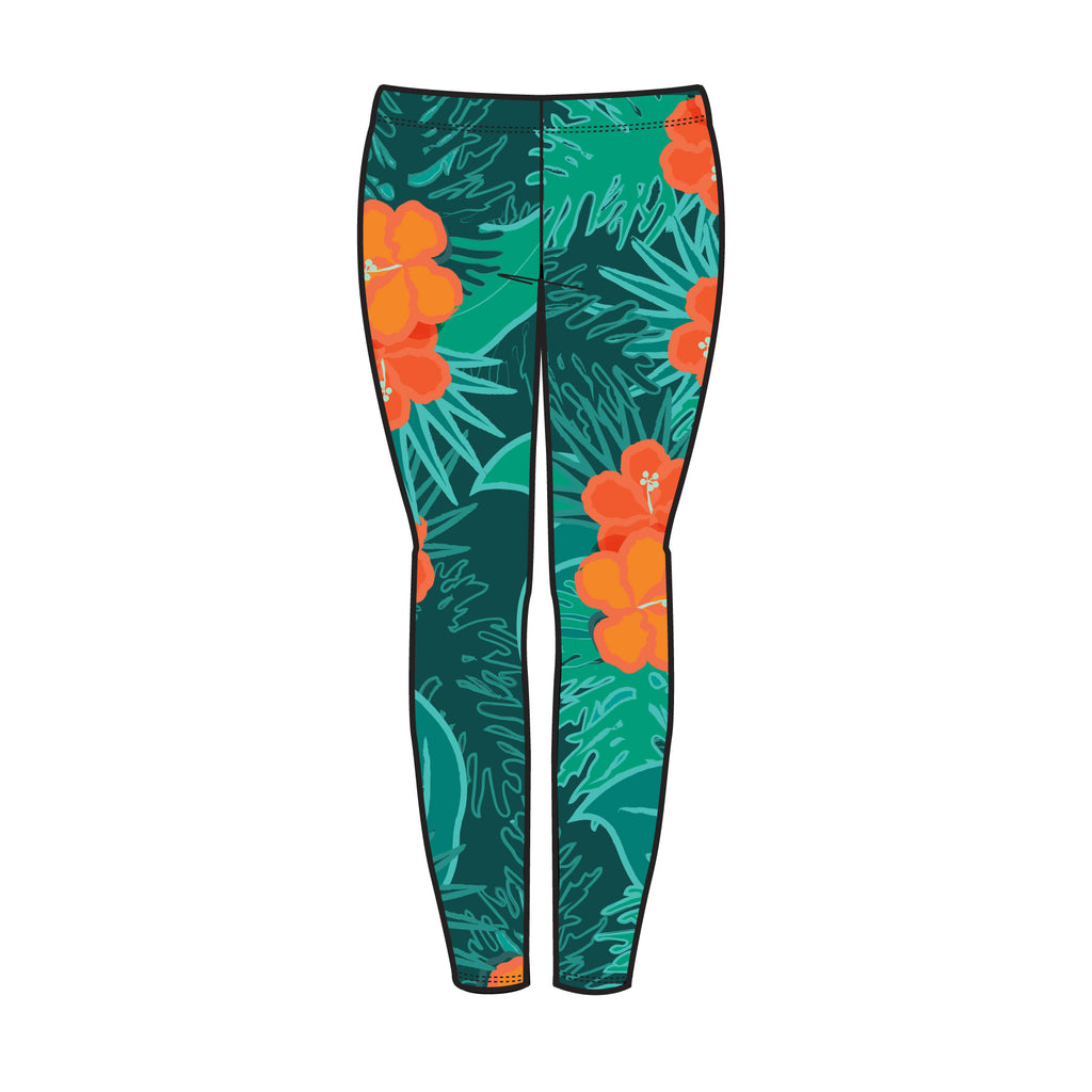 YOUTH FLORAL LEGGINGS