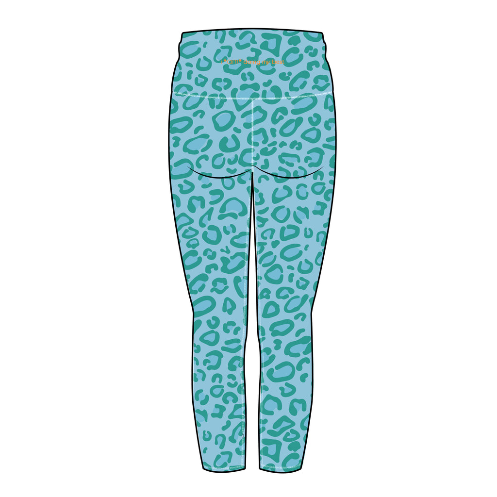 MARINE LEOPARD CROPPED LEGGINGS