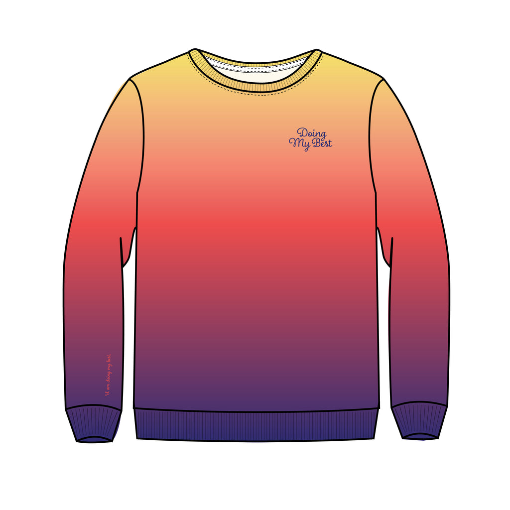 DOING MY BEST SUNSET SWEATSHIRT