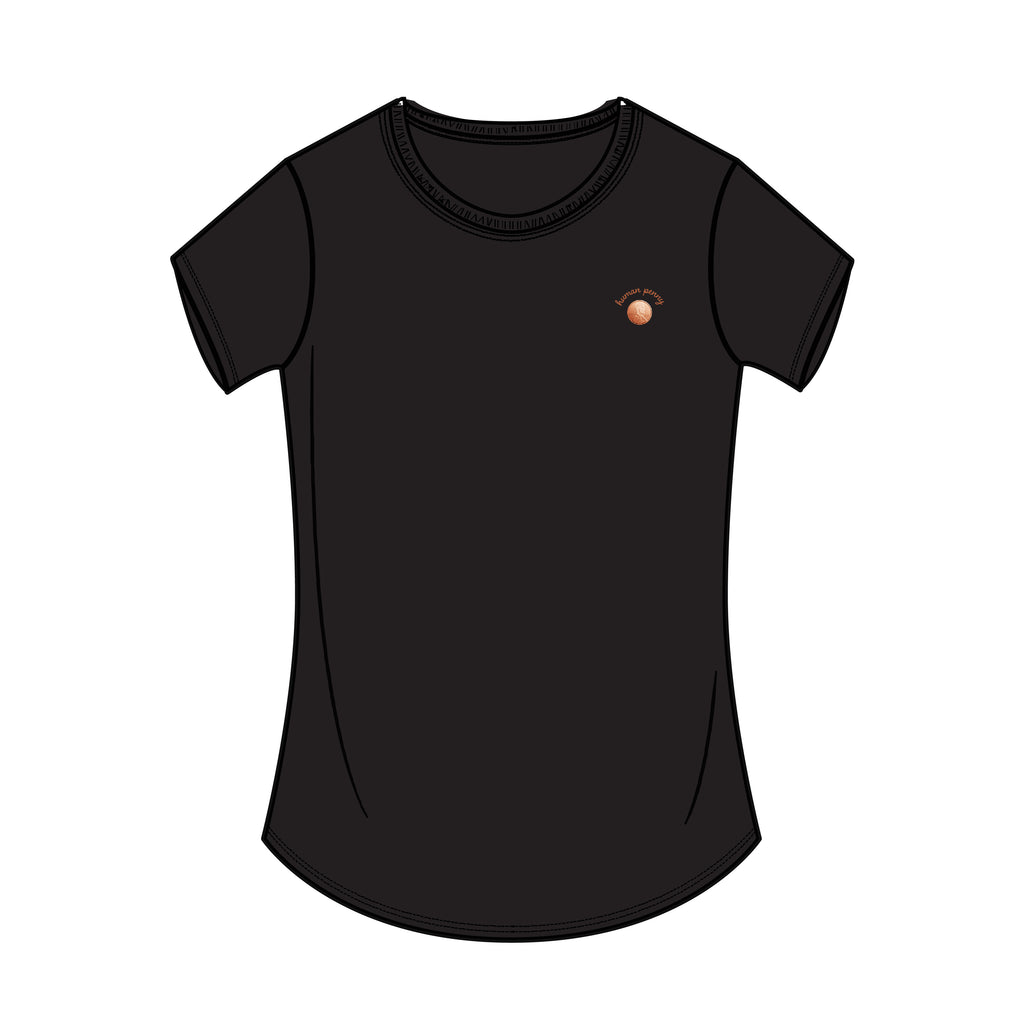 HUMAN PENNY CURVED HEM T-SHIRT (3 COLORS)
