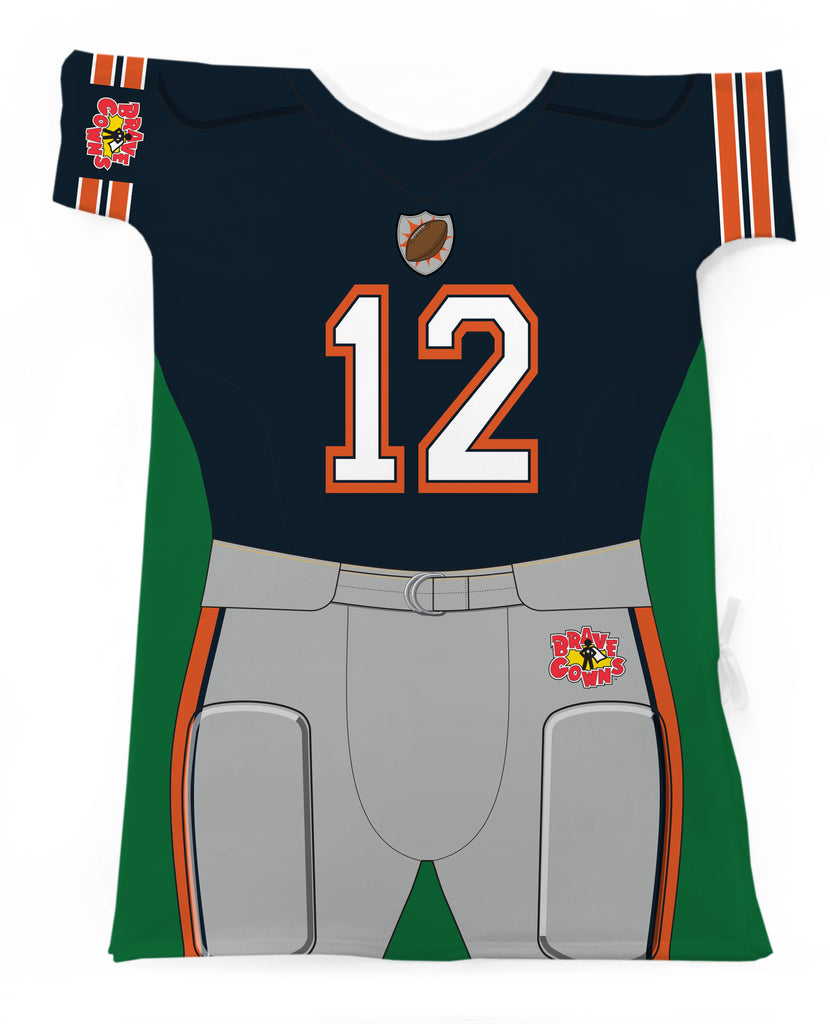 FOOTBALL PLAYER NAVY & ORANGE