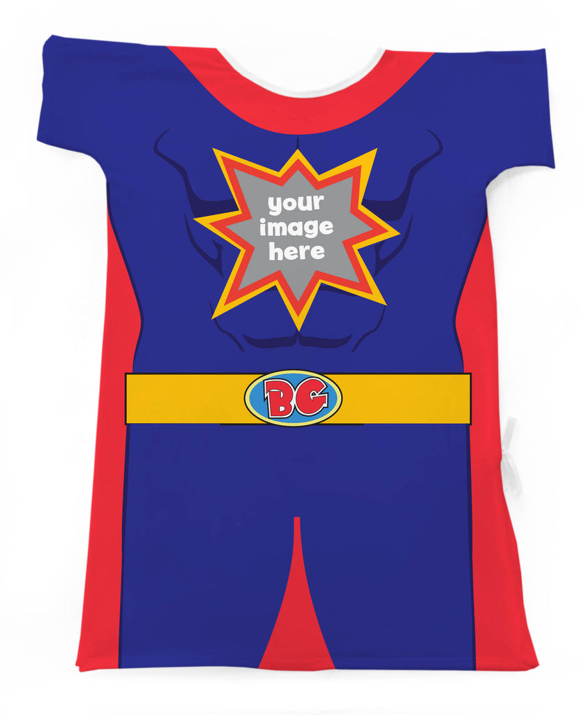 CUSTOM SUPERHERO GOWN-ADD AN IMAGE