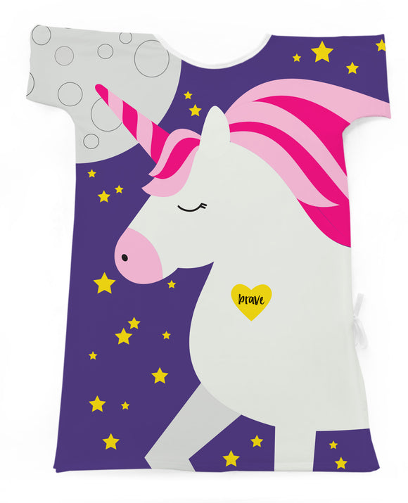 A Magical Unicorn-Purple Stars