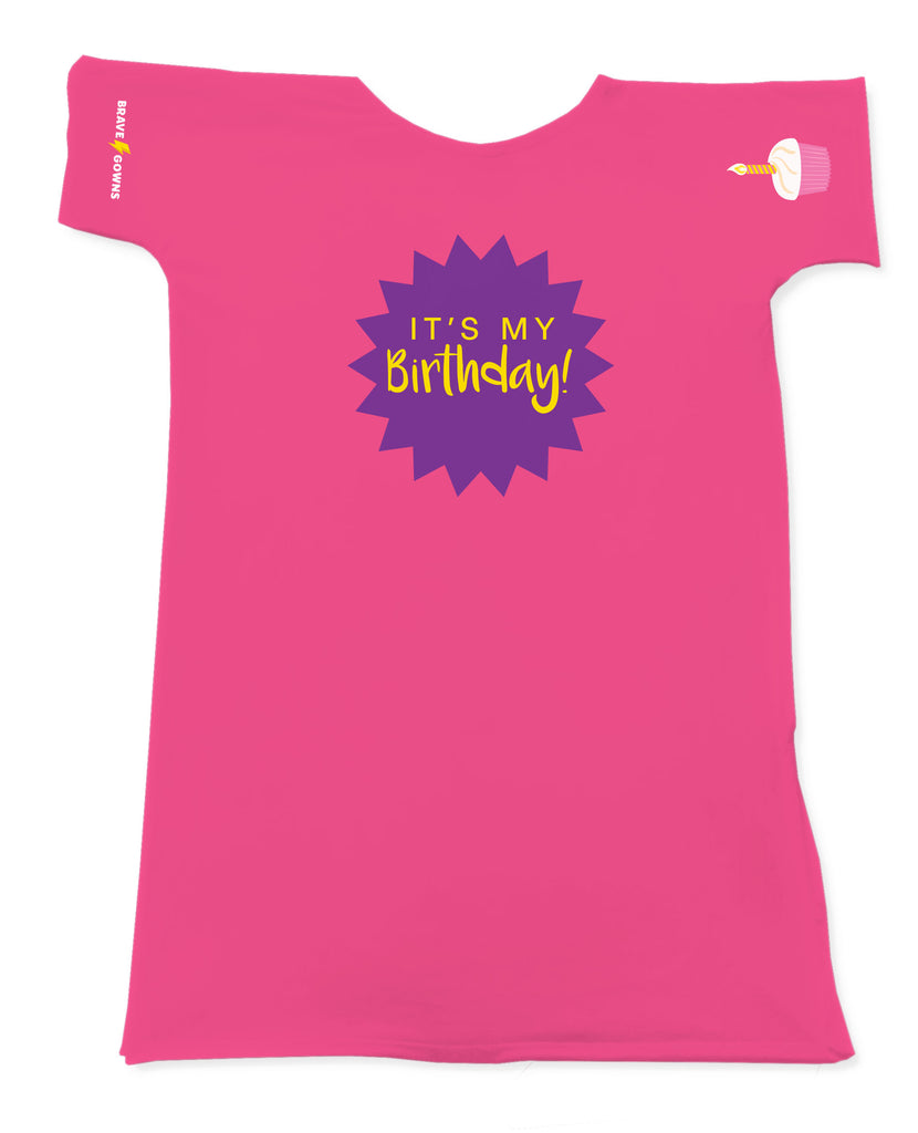 BIRTHDAY BRAVE GOWN PINK CUPCAKE