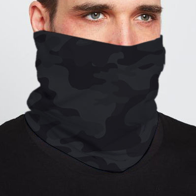 BLACK CAMO NECK GAITER