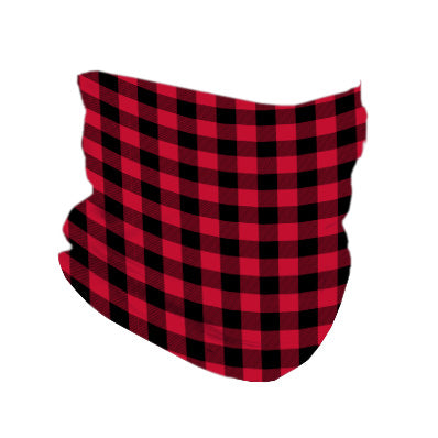 RED & BLACK PLAID MASK