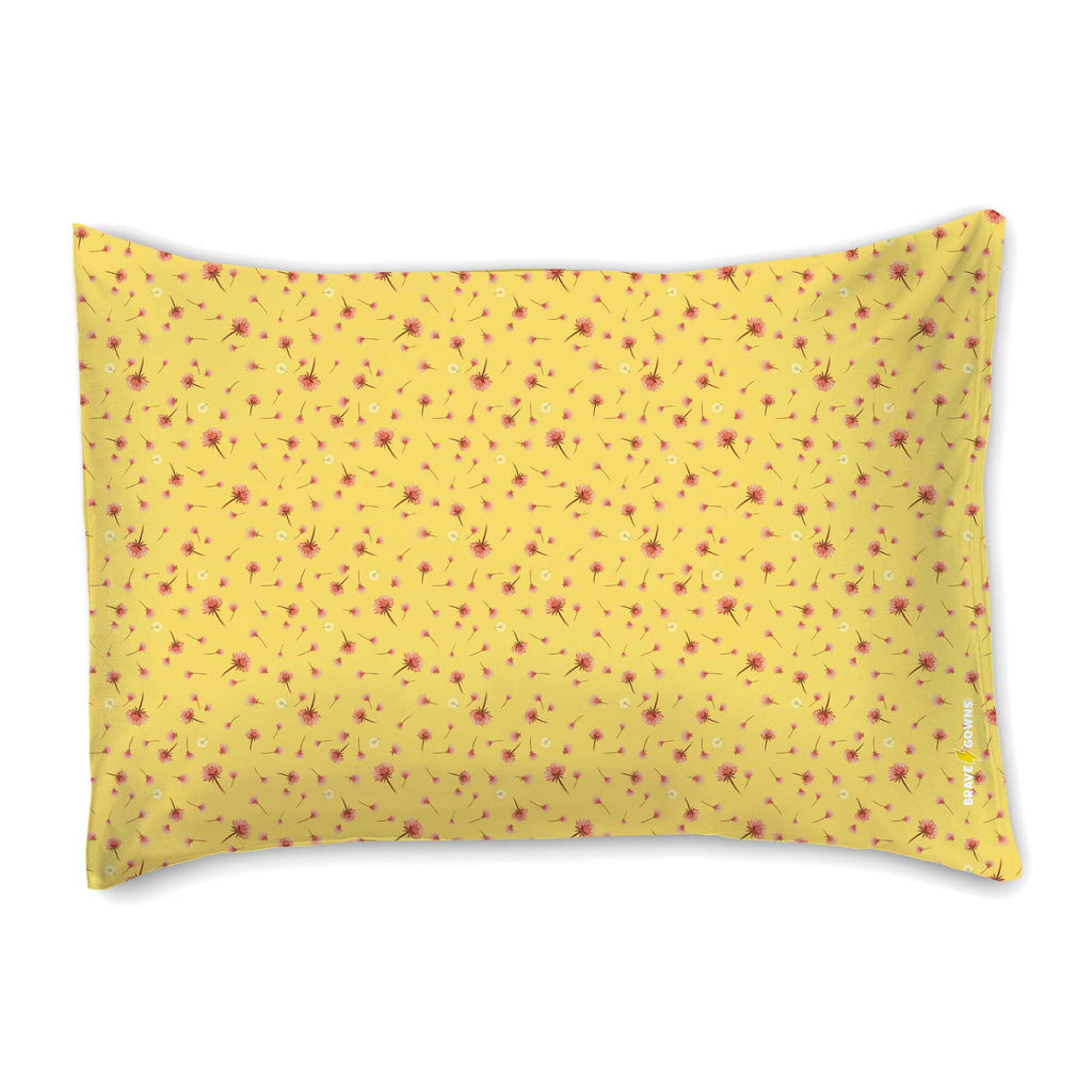 Yellow Oona & Baba Pillowcase