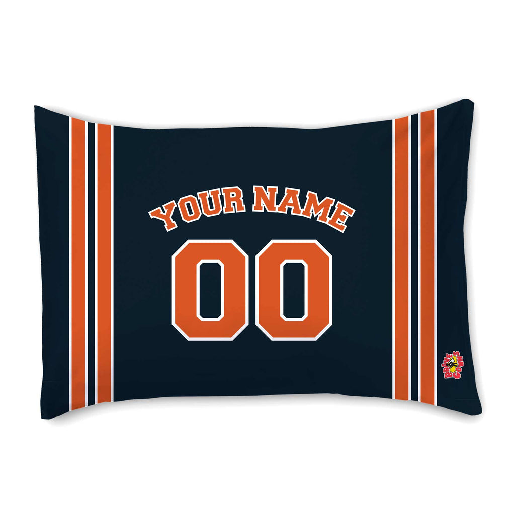 CUSTOM SPORTS NAVY W/ORANGE