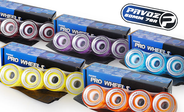 Pavoz New 60MM Candy Skateboard Wheels