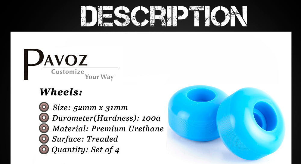 Pavoz Skateboard Wheels Parameter