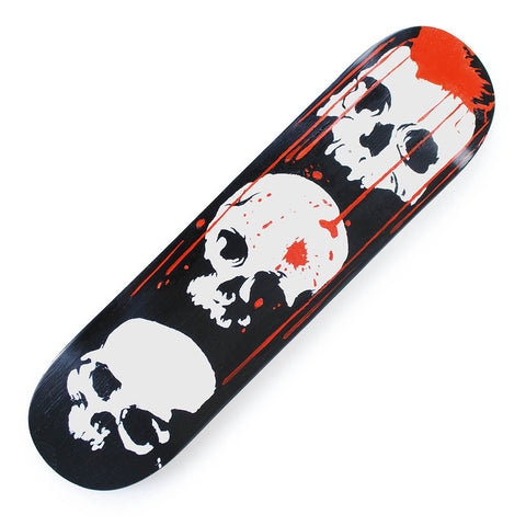 Skateboard Deck Art Three Skulls Hand Painted Deck 32X8 - Pavoz