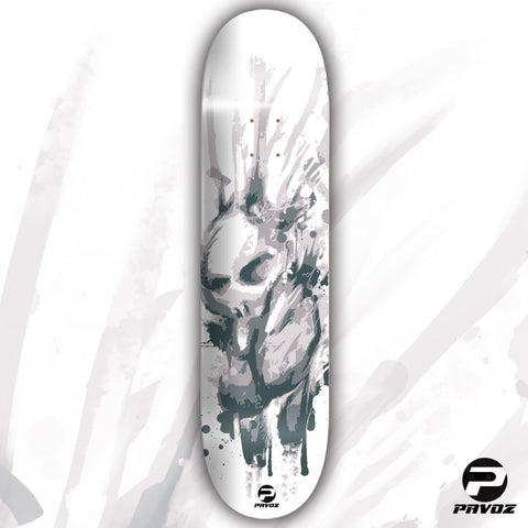 Skateboard Deck Art White Punk Bunny Hand Painted Deck 32X8