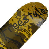 Skateboard Deck Designs Gold Freestyle Hand Painted Deck 32X8