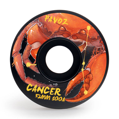 Skateboard Wheels Brands Pavoz 52mm 100A Set Cancer Easy Custom