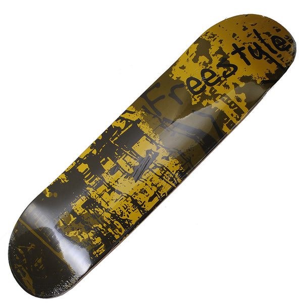 Skateboard Deck Art Gold Freestyle Hand Painted Deck 32X8 - Pavoz
