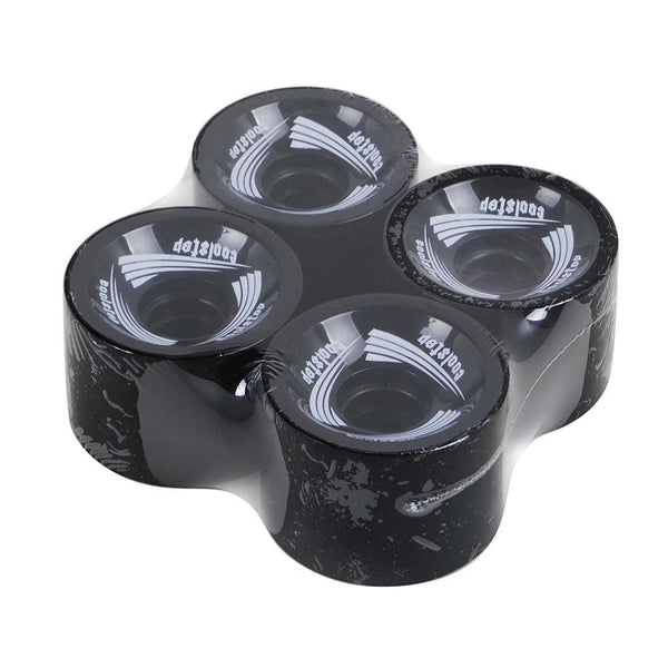 Quiet Longboard Wheels 70mm 82A Black With Logo - Pavoz