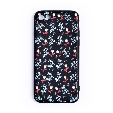 Hard Plastic Case For iPhone 7 Flowers