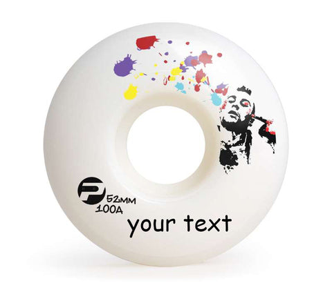 Skateboard Wheels For Street 52mm 100A Set Blind Monkey White Headshot Easy Custom