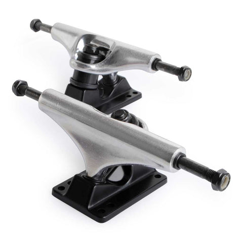 Skateboard Trucks Quality 8 Mid Profile Silver Black 1 Pair