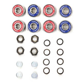 Pro Ceramic Skateboard Bearings Top Quality High Speed No Rust ABEC-7 Red & Blue V2.0 - Pavoz