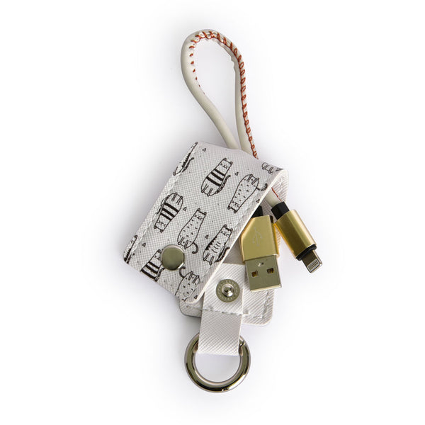 Lightning USB Cable with Key chain 2-in-1 for iPhone 5/6/7/8 iPad Cat