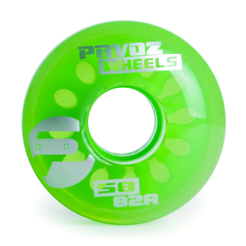Pro Cruiser Deck Wheels 58mm 82A Clear Green - Pavoz