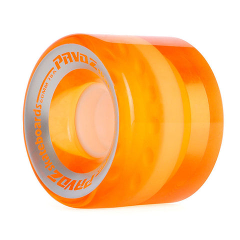 Pro Cruiser Wheels For Skateboard 60mm 78A Clear Orange - Pavoz