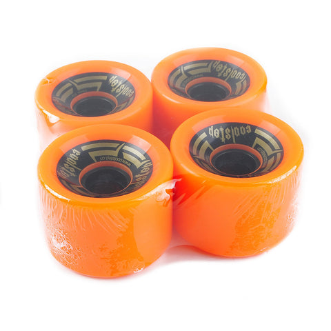 Longboard Wheels For Sliding 70mm 82A Orange With Logo - Pavoz