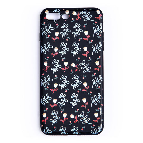 Hard Plastic Case For iPhone 7 plus Flowers