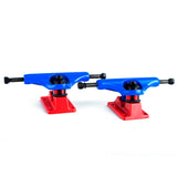 Skateboard Trucks Brands New 7.5 Mid Profile Blue Red 1 Pair