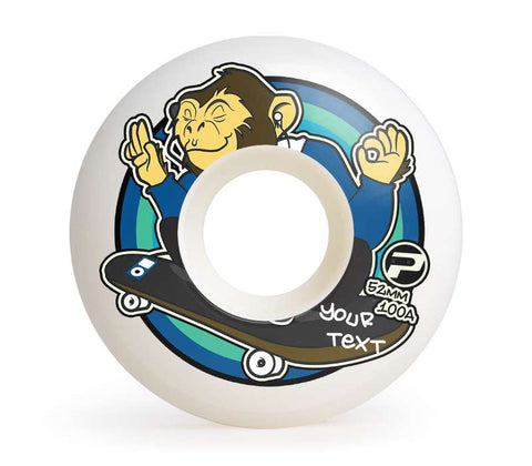 Skateboard Wheels For Sale 52mm 100A Set Blind Monkey Logo Easy Custom