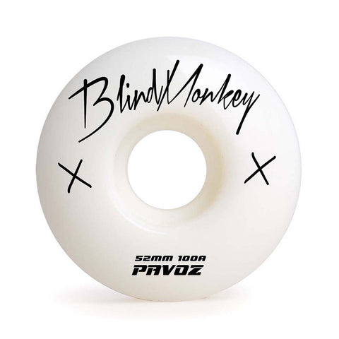 Skateboard Wheels On Sale 52mm 100A  White Wheels Signature