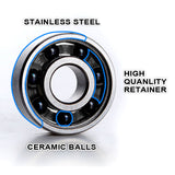 Pro Ceramic Skateboard Bearings Top Quality High Speed No Rust ABEC-7 Sky Blue V2.0 - Pavoz