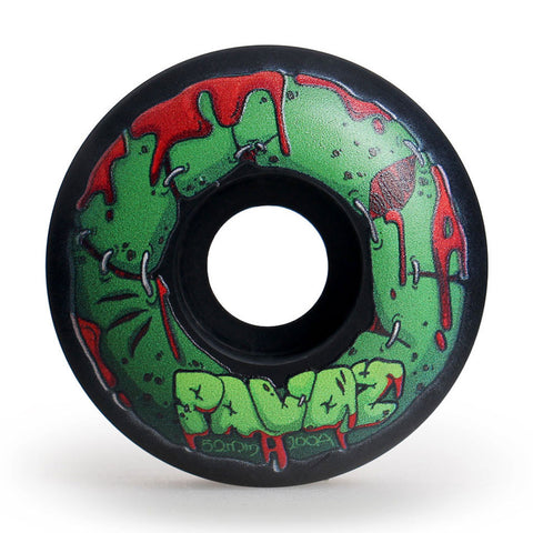 Skateboard Wheels On Sale 52mm 100A  Halloween Zombie Black - Pavoz