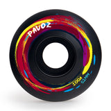Skateboard Wheels Quiet 52mm 100A  Red Ink Black