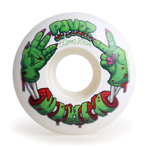 skateboard wheels graphics inside 52mm 100A  Halloween Zombie 4 White