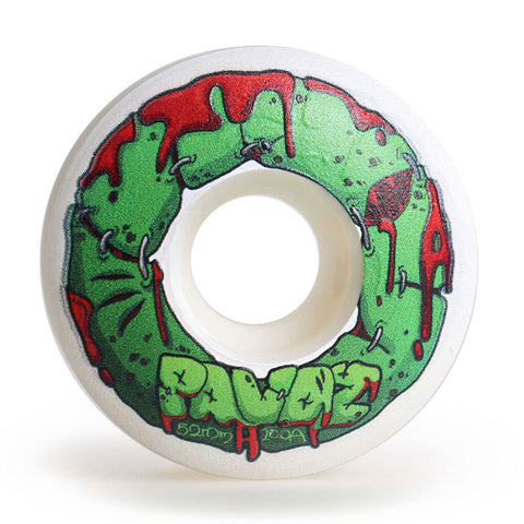 skateboard wheels graphics inside 52mm 100A  Halloween Zombie White - Pavoz