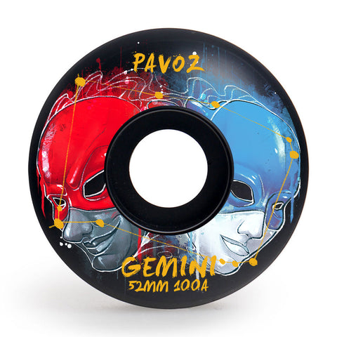 Skateboard Wheels Brands Pavoz 52mm 100A Set Gemini Easy Custom