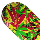 Skateboard Deck Art Maple Leaves Hand Painted Deck 32X8 - Pavoz