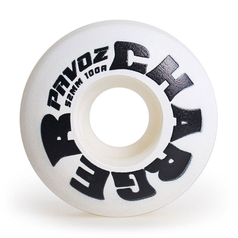 Skateboard Wheels Quiet 52mm 100A  Charger White - Pavoz