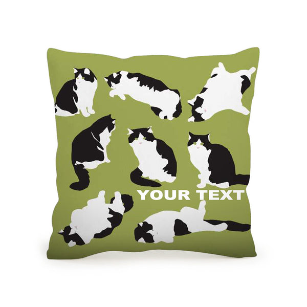 Throw Pillow Printing Cushion 45x45 Cat Included Inner Pack Easy Custom