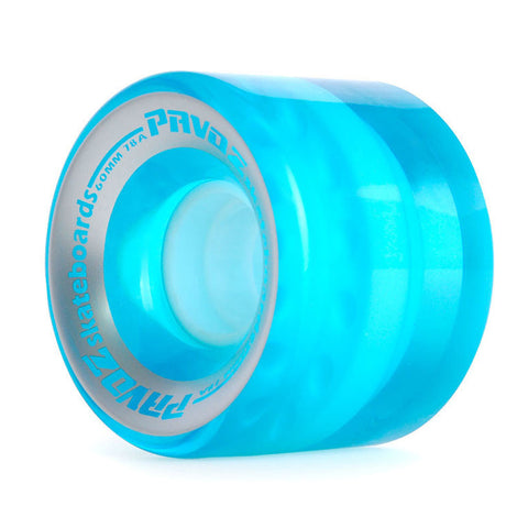Pro Cruiser Wheels On Normal Skateboard 60mm 78A Clear Blue