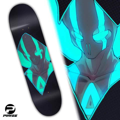 Skateboard Deck Design Your Own Ghost Hand Painted Deck 32X8 - Pavoz
