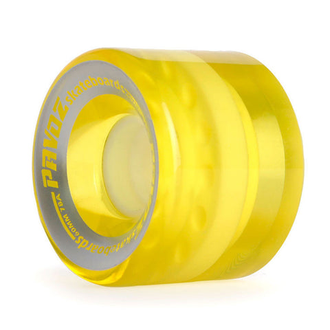 Pro Cruiser Wheels On Regular Skateboard 60mm 78A Clear Yellow - Pavoz