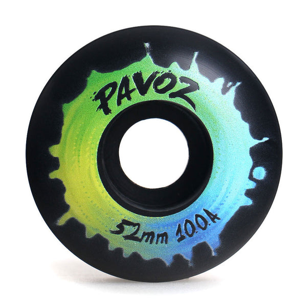 Top Quality Skateboard Wheels 52mm 100A  Rainbow 4 Black - Pavoz