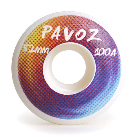 Top Quality Skateboard Wheels 52mm 100A  Rainbow 3 White