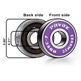 Pro Ceramic Skateboard Bearings Top Quality High Speed No Rust ABEC-7 Purple V2.0
